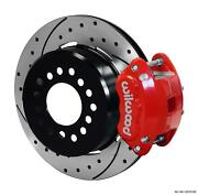 Wilwood Rear Disc Brake Kit 12 Chevy 10/12 Bolt W/ 2.75 Offset Drilled Stag Red
