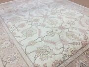 8and039.1 X 9and039.8 Beige Brown Ziegler Oriental Area Rug Hand Knotted Wool