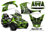 Can-am Brp Spyder Rt 2014-2019 Creatorx Graphics Kit Decals Spiderx Green Lime