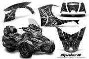 Can-am Brp Spyder Rt 2014-2019 Creatorx Graphics Kit Decals Spiderx Silver