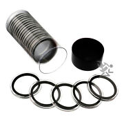 Black Capsule Tube And 20 Air-tite 40mm Black Ring Coin Capsules For Silver Eagles