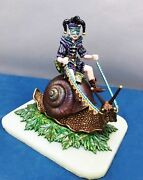 Into The Forest Clown Riding Fantasy Snail Direct From Ron Lee