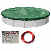 Supreme Green/black Swimming Pool Winter Cover Tarps Various Sizes And Shapes