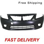 Primed Front Bumper Cover Manual/auto Transmission Fits Nissan Versa Ni1000284