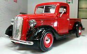 G Lgb Scale 124 1937 Ford Vintage Lorry Truck Pickup Diecast Model Red