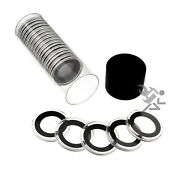 1/4oz Gold Eagle Coin Holder Black Capsule Tube And 20 Air-tite 22mm Black Rings