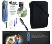 Oster Turbo A5 2 Speed Clipperand10,10 Wide Blade Set-case,dvd-dog,horse Grooming