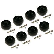 Pack Of 8 Smooth Deck Wheel With Bolt, Nut For Husqvarna 589527301 And 587048801
