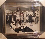 Muhammad Ali Signed/framed 1964 B/w 16x20 Photo Beatles Knock Out Steiner Coa