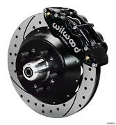 Wilwood 64-72 Chevelle A-body Front Disc Big Brake Kit 13 Drilled Rotor Black