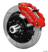 Wilwood 64-72 Chevelle A-body Front Disc Big Brake Kit 13 Plain Rotor Red