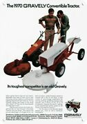 1970 Gravely Convertible Tractor And Mower Decorative Metal Sign