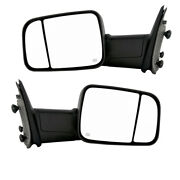 09-12 Ram Truck Power Heat W/signal Puddle Lamp Mirror Left Right Side Pair Set