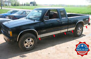 1982-1993 Chevy S-10 Pickup Extended Cab Short Bed Rocker Panel Trim 10pc 5