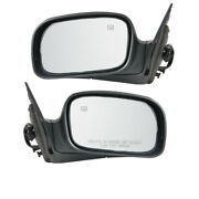 06 07 08 Pacifica Rear View Door Mirror Power Heated W/o Auto Dimmer Set Pair