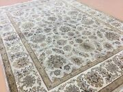 4and039.11 X 7and039.0 Light Green Very Fine Traditional Oriental Area Wool Rug Handmade