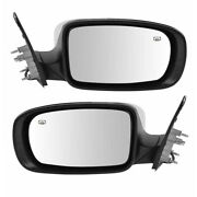 11-18 300 Rear View Mirror Power Heated W/o-memory Chrome Left And Right Set Pair