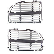 05-07 Magnum Front Grill Grille Assembly Black/silver Left And Right Side Pair Set