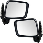 94-97 Passport Manual Black Folding Rear View Mirror Left And Right Side Set Pair