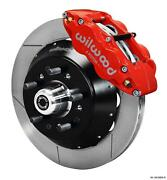 Wilwood 67-69 Camaro Firebird Front Disc Big Brake Kit 14 Plain Rotor Red