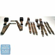 1978-88 Gm G Body Cars Factory Style Front Bench And Rear Seat Belts - Tan