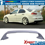 Fits 08-17 Mitsubishi Lancer Painted Abs Trunk Spoiler - Oem Painted Color