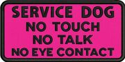 Service Dog No Touch Embroidered Tactical Morale 2x4 Patch-usa Made24hr Ship