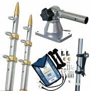 Taco Gs-170vel15-1 Taco Grand Slam 170 Outrigger Kit Silver Gold Outriggers