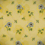 Scalamandre Angelica Cotton Satin Floral Multipurpose Hand Printed Fabric 5 Y