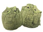 Vietnam Nylon Canteen Cover 1969 Dated Plastic Snap 2 Pack