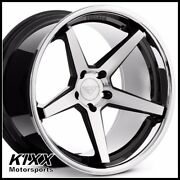 22and039 Ferrada Fr3 22x9.5 22x11 Black/silver Concave Wheels For Dodge Challenger