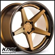 20 Ferrada Fr3 20x9/10.5 Bronze Concave Wheels Rims For Ford Mustang