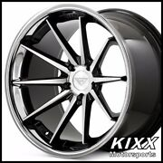 20 Ferrada Fr4 20x9/10.5 Black/silver Concave Wheels Rims For Ford Mustang