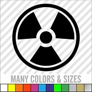 Nuclear Radiation Sticker Warning Nuke - Bio Hazard Zombie Choose Size And Color