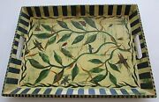 Signed By Tracy Porter Hand Painted Wood Serving Tray