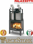 Fireplace Wood Air Natural Ducted Palazzetti El 78 Destro Dx Easy Line 24kw