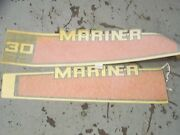 New Oem Outboard Motor Marinier Decals As Shown In Picture