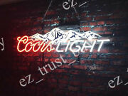 Rare New Coors Light Mountain Beer Neon Sign 24x16