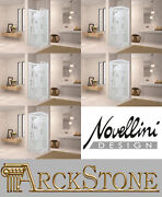 Novellini New Holiday Gf90 90x90 Cm Box Shower Door Swing Fixed Lateral Hydro