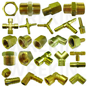 Bsp Taper Thread X Hose Tail End Connector - Brass Fitting For Air Water And Fuel