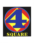 Robert Indiana Polygon Square Number Four 22 X 17 Serigraph 1997 Pop Art