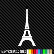 Eiffel Tower Decal - Car Or Wall Vinyl Decal Sticker - Multiple Sizes And Colors