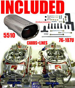 Quick Fuel Q-650-b2 650 Cfm Blower Gas Supercharger Carbs With Scoop Line Kit