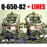 Quick Fuel Q-650-b2 650 Cfm Blower Supercharger Carbs With Line Kit