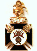 Vintage 10k Solid Gold Knights Of Columbus Pendant 40mmx22mm Signed T.b.