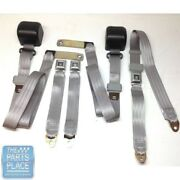 1978-88 Gm G Body Cars Factory Style Front Bench Seat Belt - Gray