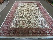 7and039 X 10and039 Vintage Hand Made India Floral Oriental Wool Rug Hand Knotted Carpet