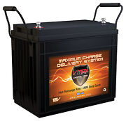 Vmax Mr147-155 12v Agm Marine Battery For Minn Kota Riptide 55lbs Trolling Motor