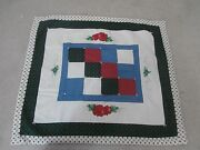 Hand Made Quilt And Painted Apple Pattern Wall Hanging Table Topper