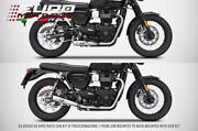 Triumph Bonneville T100 17-19 Zard Exhaust Full System Silencers 2 Solution In 1